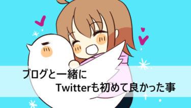 ブログと一緒にTwitterも始めて良かった事!初心者向け